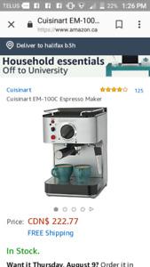Cuisinart espresso machine stainless steel