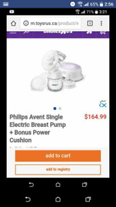 Philips avent electic single breast pump