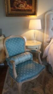 *L@@K* STUNNING ITALY HAND CARVED LOUIS XVI ACCENT CHAIR