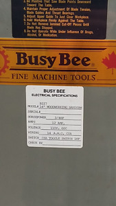 "BUSY BEE 14"" WOODWORKING BAND SAW"