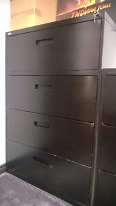 Lots of Great Filing Cabinets, Black Tough Built Good Condition.