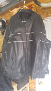 3xl men's leather motorcycle jacket