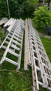 Ladders, various sizes and types