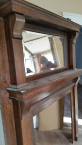 2 Beautiful Handmade Fire Place  Mantel with mirrors