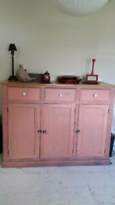 Antique - Primitive Tall Sideboard/Buffet Cabinet