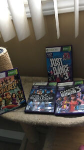 Black xbox 360 kinect and games