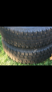 4 winter tires with studs and rims