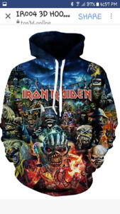 Iron Maiden and AC/DC Hoodies