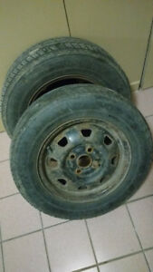 02 All Season Tire 175/ 70R13 with Rims Balanced 04 Holes