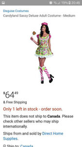 Costume Halloween Candy Land Femme