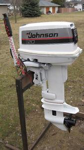 Johnson 20HP motor 1988 short shaft,electric start