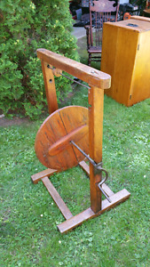 Antique Pine Wool Winder in Thornbury