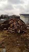 Seasoned fire wood ash maple oak cherry iron