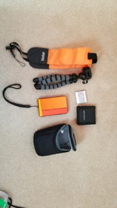 Sony dsc tx30 18.2 mp waterproof camera with accessories