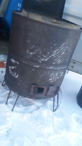 barrel wood stove