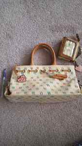 Dooney And Bourke Signature  Handbag and card/coin purse