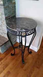 Marble top bar height table. Cornwall Ontario image 1
