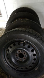 Firestone Winterforce snow tires/rims(used)