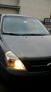 2007 Kia Sedona grey Minivan, Van