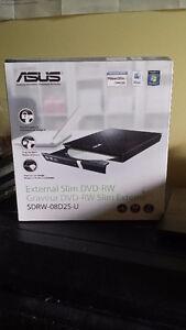 Asus 8X External Slim DVD+/-RW Drive (New in box)