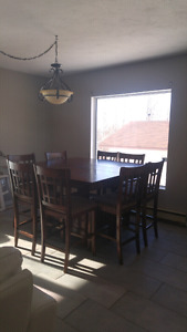 Table whit 8 chair 450.00 OBO