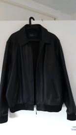 Large mens leather jacket.
