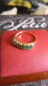 10k Gold Emerald Ring Size 7