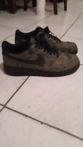 Selling A Pair of Camo Air Force One Size 13