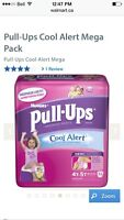 4 packages of Huggies pull ups size 4T-5T 38-50 lbs