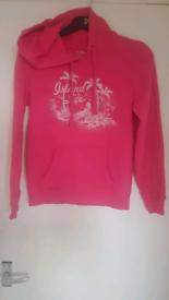 Ladies pink hoodie