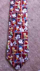 Mickey mouse and friends neck tie
