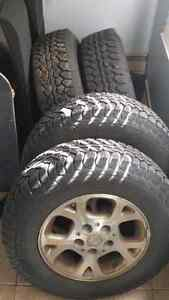 "Almost New Motomaster All Terrain Tires + 16"" Rims"