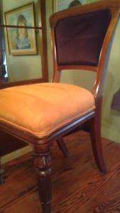 Antique dining room chair set