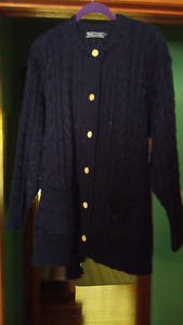Womens Woolovers wool cardigan sweater