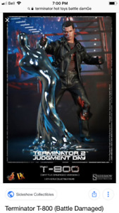 Terminator hot toys battle damage 2 pack sideshow statues marvel