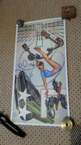 """VINTAGE PETER PHILIPS PRINT DONE FOR """"THE CARS"""" 1984"""