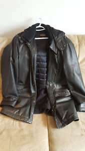 Mens black XL Danier Leather jacket
