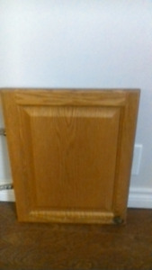 Oak square profile kitchen cabinet doors and cabinets