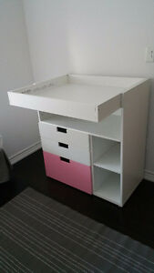 stuva ikea changing table/desk/dresser for baby/children