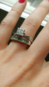 Wedding Band and Engagement Ring, size 8