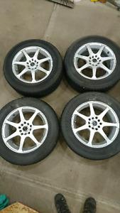 Firestone 215 60 r16 tires and aluminum rims