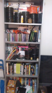 All my movie and vhs and cd and computer games
