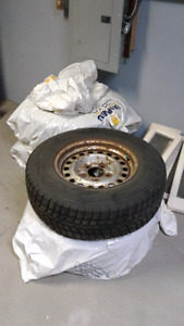 4 winter truck tires (2357016) with steel rims
