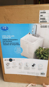 Utility Sink with Cabinet - BRAND NEW IN THE BOX