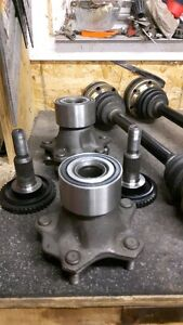porsche hubs with new bearing  and axles