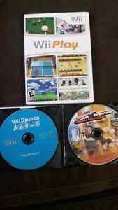 Wii play, wii sports and extreme challenge - all 3 games $15