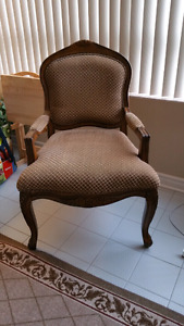 Solid antique style chair