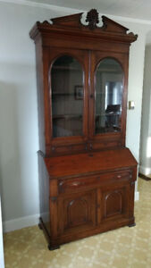 Antique Secretary/China Cabinet