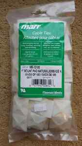 "CABLE TIE 1"" MOUNT PADS, BAG OF 100 PADS, by MARR (# MR-10100)"
