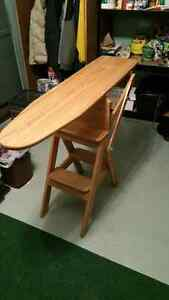 Amish ironing board/chair and step stool